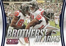 2014 SCORE BROTHERS IN ARMS BLUE FOIL PARALLEL INSERT CARD  - ATLANTA FALCONS