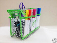 Handy Caddy Clear View Organizer Crafts Sewing Quilt Scrapbook Case Lime Green