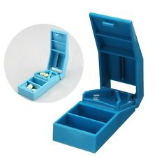 Pill Holder Tablet Cutter Splitter Tool W/Half Storage Medicine Dase Box Divider