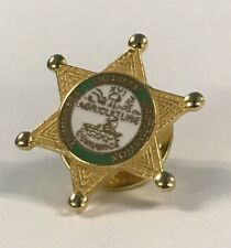 TN Sheriff's Association badge style pinback enamel, Pin Game Style Flare