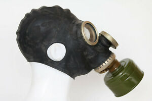 GP-5M  Authentic Soviet Russian GAS MASK BLACK DIRTY filter Genuine Vintage gift