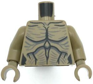 Lego New Demogorgon Dark Tan Torso Alien with Black Muscle Contours