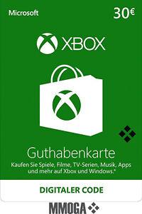 Microsoft Xbox LIVE 30 Euro € EUR Guthaben Card - MS Xbox 360 & One - [DE/EU]