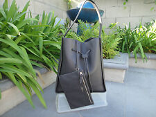 3.1 Phillip Lim SOLEIL LARGE Dark Grey Smooth Leather Bucket Bag, Store Return