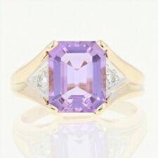 Amethyst & Diamond Ring - 10k Yellow Gold Size 6 1/2 Women's 2.93ctw