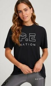 BNWT **Pe Nation** Ladies Heads Up T-shirt S/Sleeve Workout Tee Shirt Top XS/6-8