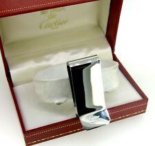 Cartier Metal Silver Swiss Made Money Clip Bill Purse Comp