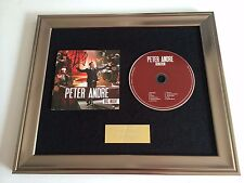 PERSONALLY SIGNED/AUTOGRAPHED PETER ANDRE - BIG NIGHT FRAMED CD PRESENTATION.
