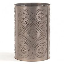 Wastebasket with punched Diamond in Blackened Tin