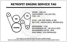 ls 6 0 engine in flywheels flexplates parts 2006 ls2 6 0l gto retrofit engine service tag belt routing diagram decal