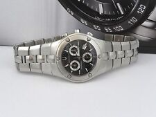 Accutron 26B54 Lucerne Classic Chronograph Silver Tone Black Dial Men's Watch