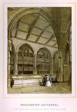 MANCHESTER CATHEDRAL -1880- Choir & Babtisry & Chapel