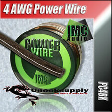 BLACK 4 Gauge Power Ground Amplifier Wire BY-THE-FOOT 4 AWG Primary Cable Guage