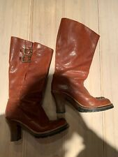 Womens FRYE Leather Boots Mildred ENG Pull Size 6.5