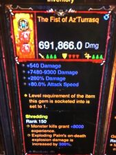 DIABLO 3 MODDED PRIMAL ANCIENT WEAPON THE FIST OF AZ'TURRASQ HIGHEST DPS XBOX 1