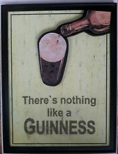 """Wooden Guinness Beer Sign There's nothing like a Guinness 25"""" x 19"""" Man cave"""