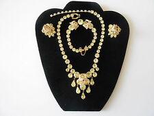 Exquisite Vintage Eisenberg Parure Necklace Bracelet Earrings Soft Peridot