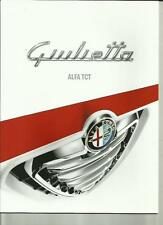 ALFA ROMEO GIULIETTA ALFA TCT  CAR BROCHURE NOVEMBER 2011 FOR 2012 MODEL YEAR