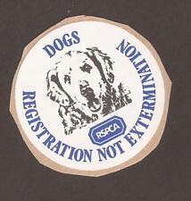 """Cenicienta, etiqueta engomada. RSPCA. """"los perros no exterminio de registro"""""""