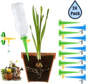 24X Automatische Garten Kegel Bewässerung Spikes Pflanze Flasche Steuern Cone
