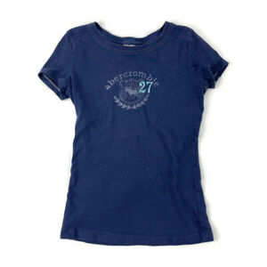 Abercrombie Kids Graphic Tee Blue Medium