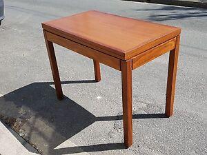 Table A Jeux Or Lunch Transforming Scandinavian Teak 1960 Vintage Danish