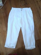 laura ashley white linen pants  cropped 12  worn once.