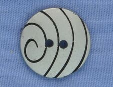 15mm Silver / Black  2 Hole Button (x 2 buttons)
