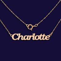 Personalised Choose Any Name 9ct Rose Gold Nameplate Necklace Valentines Gift