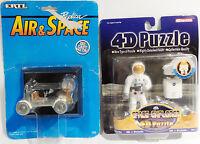 SPACE : LUNAR ROVER - APOLLO 15 - CARDED DIE CAST MODEL & ASTRONAUT 4D PUZZLE