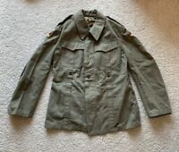 VINTAGE German Military Wool Coat w/ Patches on Sleeves