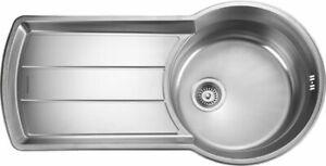 Rangemaster Keyhole 1.0 Bowl Stainless Steel Kitchen Sink KY10001