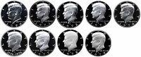 1970-1979 S Complete Set Kennedy Half Dollars Gem Proof Run 9 Coins US Mint