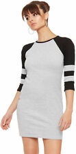 Cotton Short Sleeve Striped Regular Size Dresses for Women