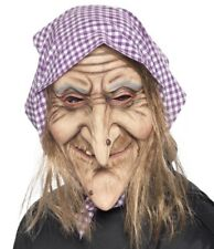 Halloween Fancy Dress Latex Old Witch Mask Hag Mask ref 37194 by Smiffys New