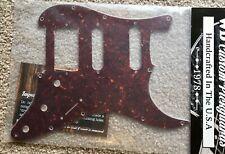 Pickguard For Fender®  Stratocaster® HSS 4 Ply Brown Tortoise/Mint/Black/Mint
