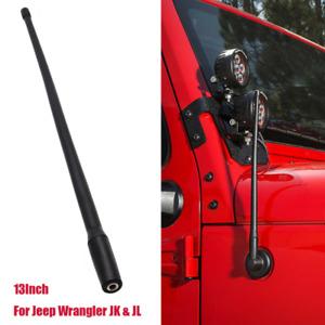 "13"" Radio Antenna Mast AM/FM Rubber Aerial Fits Jeep Wrangler JK JKU JL 2007-18"