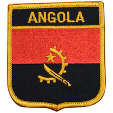 "Angola Patch -  Africa, Cabinda, Luanda, Portugese 2.75"" (Iron on)"