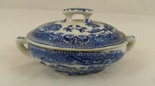 Vintage Blue Willow Casserole Dish w/ Lid - Kids Play Set - Made in Japan