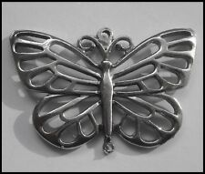 PEWTER CHARM #314 Butterfly 2 bail joiner (45mm x 33mm)