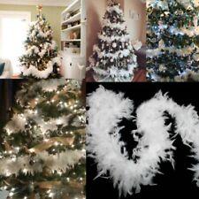 6.5ft Christmas Tree White Feather Home Party Xmas Ribbon Garland Decor 5PC/Set