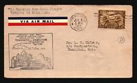 Canada 1929 FFC - Toronto to hamilton - Z16698