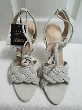 ZARA LEATHER LACE UP SANDALS EUR 37-39 US 6.5-39 REF. 2830/001 NWT