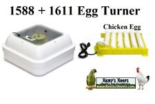 Brand New GQF 1588 Genesis Egg Incubator with 1611 Chicken & Duck Egg Turner
