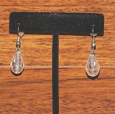 Unbranded Clear Tear Drop Shaped Beaded Crystal Look Drop Dangle Earrings!