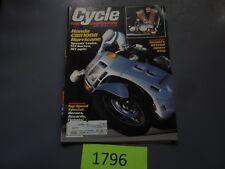 CYCLE MAGAZINE 1987 APRIL MOTORCYCLE HONDA CBR 1000 HURRICANE VS1400 SUZUKI