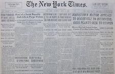 6-1937 June 17 BILBAO TERRORIZED BY REBEL SHELLS HOMES DESTROYED SPAIN CIVIL WAR