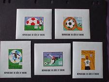 "IVORY COAST 1978 "" World Football Championship. Argentina "" Imperf, U/M Set 5 ."