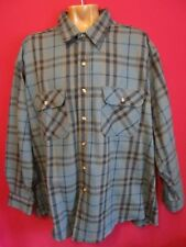 Field & Stream Heavy Cotton Flannel Work Shirt Multi-Color Plaid Men's Size 2XL