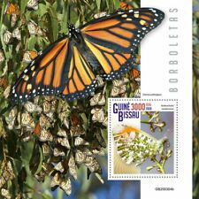 Guinea-Bissau Butterflies Stamps 2020 MNH Orange-Tip Monarch Butterfly 1v S/S